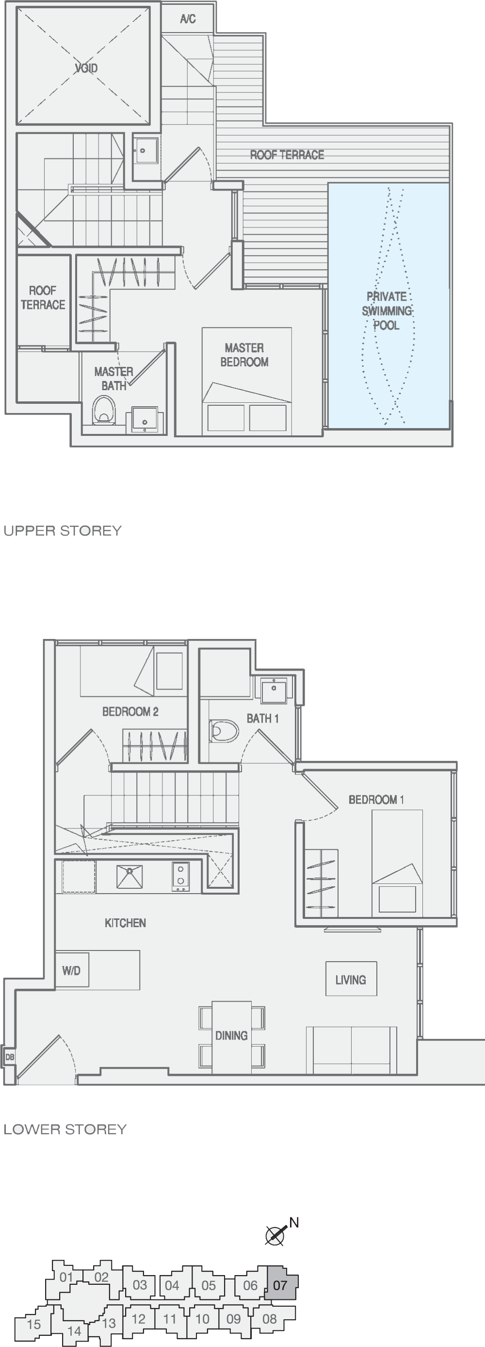 Type 3-Bedroom-Type-PH4 Penthouse Floor Plan
