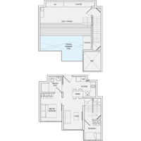 2 Bedroom Type PH1(m) Penthouse Floor Plan