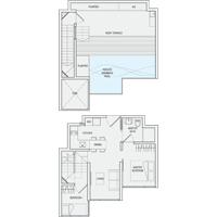 2 Bedroom Type PH1 Penthouse Floor Plan