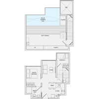 2 Bedroom Type PH3(m) Penthouse Floor Plan