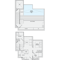 2 Bedroom Type PH3 Penthouse Floor Plan