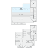 2 Bedroom Type PH5 Penthouse Floor Plan