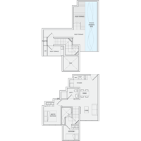 2 Bedroom Type PH6 Penthouse Floor Plan