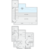 2 Bedroom Type PH8 Penthouse Floor Plan