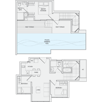 3 Bedroom Type PH10 Penthouse Floor Plan