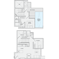 3 Bedroom Type PH4 Penthouse Floor Plan