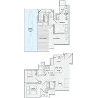 3 Bedroom Type PH9 Penthouse Floor Plan