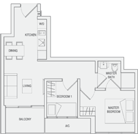 Type A4 2-Bedroom Floor Plan