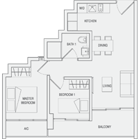 Type A5 2-Bedroom Floor Plan