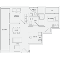Type A7 2-Bedroom Floor Plan