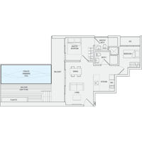 Type C8 2-Bedroom-with-Balcony Floor Plan